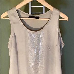 The Limited Tan and Silver Woman's Top